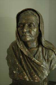 Statue of the Mahatma's wife, Kasturba Gandhi.