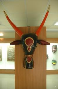 Elaborate masks worn for  for festivals