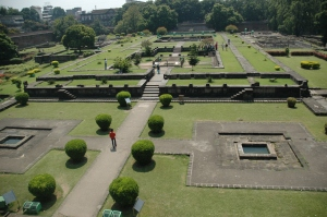 A view of the grounds from above
