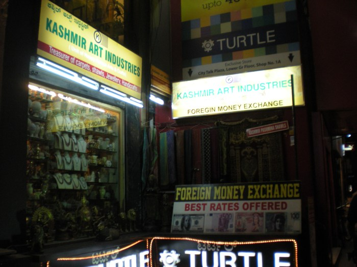 An independent shop along MG Road in Bangalore
