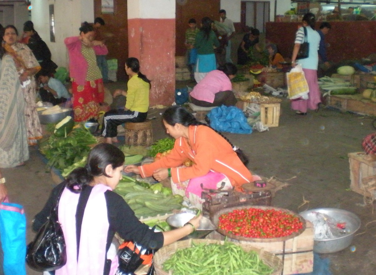 Shopping in India:  Local Neighborhood Markets