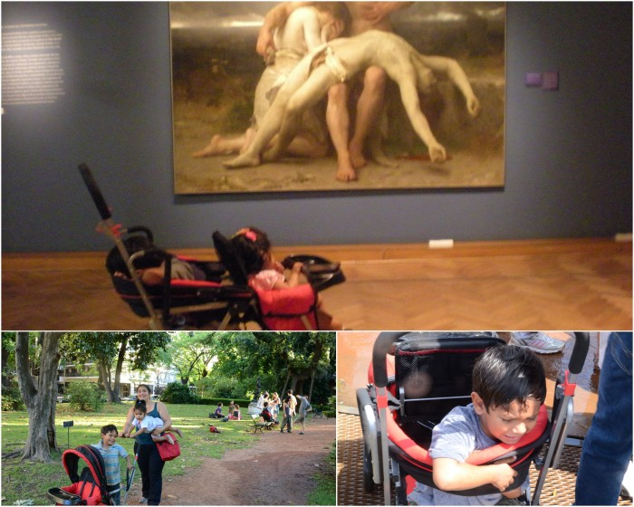 Parks, Iguazu trails, or museums, the stroller handled it all.