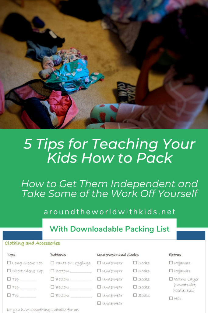 5 Tips for Teaching Your Kids How to Pack