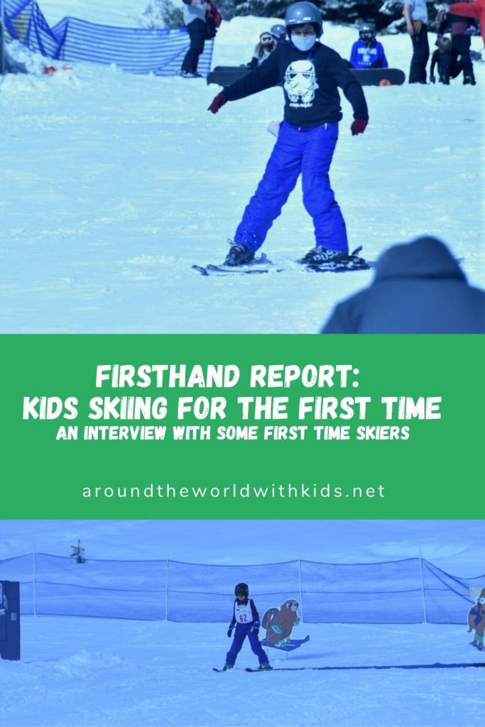Firsthand Report:  Kids Skiing for the First Time.  An interview with some first time skiers